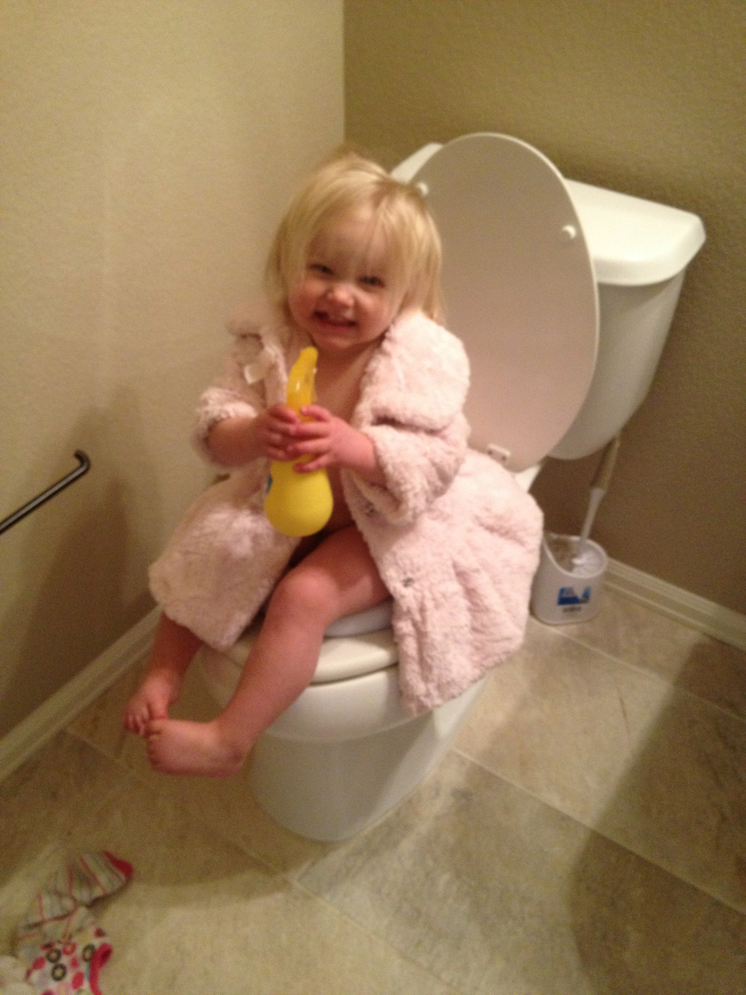 Listen, when my daughter was 18-months-old, I decided to start prepping her  to be potty trained. I wasn't extremely consistent, but I would put her on  the ...
