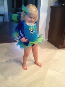 I tried her Halloween costume on and prayed she wouldn't pee in the 2 minutes it was on!